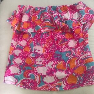 Lilly strapless top